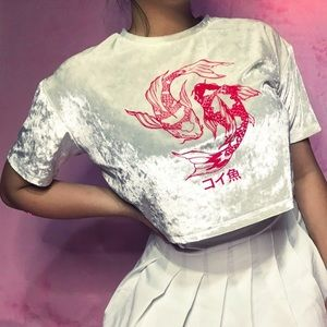 Koi Fish Velvet Top 💝